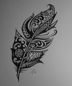 Ink Feather Drawing