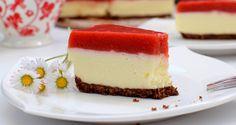 Szybkie ciasto bez pieczenia! Potrzebujecie truskawek i rabarbaru do wykonania musu na górną warstwę. Przepis: http://siostryodkuchni.pl/ciasto-bez-pieczenia-z-musem-rabarbarowo-truskawkowym-i-pianka-z-biala-czekolada/