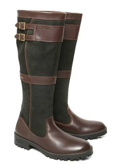 Buy Dubarry Longford Boots with FREE UK SHIPPING - The Longford Boot is a knee high, fully Gore-Tex® lined boot making it waterproof and breathable. Dubarry Boots, Tall Boots, Knee High Boots, Black Boots, Tweed, Country Boots, Country Attire, Country Style, Boots