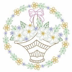 Vintage Embroidery, Custom Embroidery, Embroidery Thread, Machine Embroidery Designs, Embroidery Patterns, Cherry Blossom Drawing, Vintage Floral, Quilt Blocks, Circles
