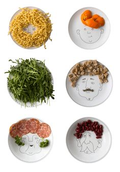 service-de-famille-gif-LaFamille Dinner Sets, Service, Bon Appetit, Plates, Food, Sculptures, Plate, Tableware, Licence Plates