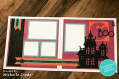 Create with Emily: Spooky Scrapbooking in October This would make a great layout for the haunted mansion at DisneyWorld