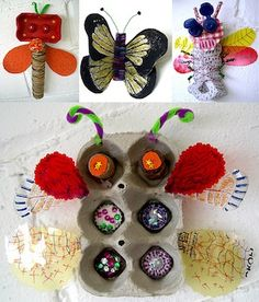 insects...with recycled materials