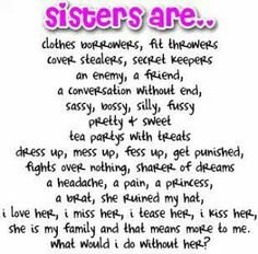 My Sister, My Friend | Birthdays, Birthday poems and Big sisters