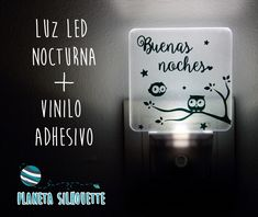 Luz led con vinilo #PlanetaSilhouette
