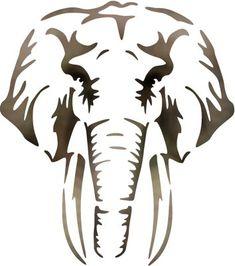 Réutilisable mylar bébé éléphant pochoir aérographe artisanat wall art home decal