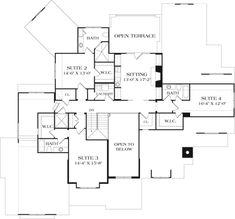 Craftsman Plan: 8,376 Square Feet, 5 Bedrooms, 7.5 Bathrooms - 3323-00646 Garage House Plans, Craftsman Style House Plans, Dream House Plans, House Floor Plans, Mountain House Plans, Garage Interior, Monster House Plans, Architectural Design House Plans, Coastal Homes