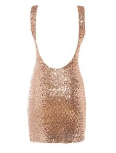 Gold Sequin Bodycon Vest Dress - look at the back of this dress!