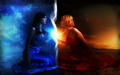 Fire and Ice Art | Between fire and ice by decoybg on deviantART