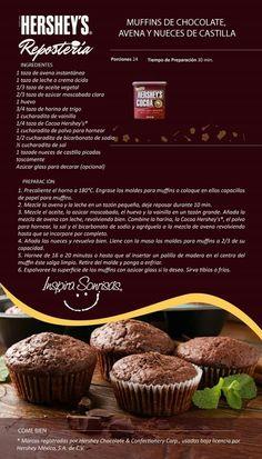 Muffins de avellana y nuez
