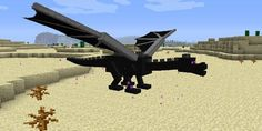 The ender dragons from minecraft. They can be very difficult to fight but leave a lot of goodies! :)