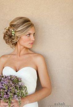 Glamorous Wedding Updo With Headband Elegant-Wedding-Updo Wedding Hair And Makeup, Wedding Updo, Hair Makeup, Bridal Updo, Wedding Pins, Wedding Side Buns, Dress Wedding, Bridal Side Hair, Bridal Hair Updo Loose