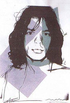 """Andy Warhol  """"Mick Jagger II.138""""  Limited Edition Print  Screenprint  43.5 x 29 in / 110 x 74 cm"""