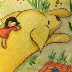 Dois bons amigos! draw chidren watercolor aquarelle aquarela girl infantilhellip