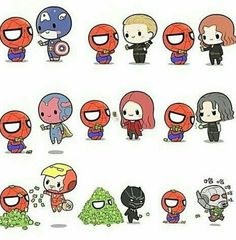 Image de Marvel, Avengers, and spiderman Baby Avengers, Avengers Cartoon, Marvel Cartoons, Marvel Jokes, The Avengers, Marvel Funny, Chibi Marvel, Marvel Art, Cute Disney Wallpaper