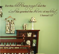 For this child I have Prayed  1 Samuel 127  Custom by DecalDepot