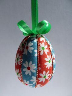 Kimekomi Ornament Kit, Simple Striped Egg by OrnamentDesigns