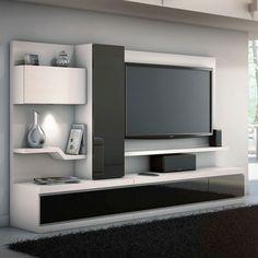 media center furniture | ... (#200) Linea Collection White Media Center | MonsterMarketplace.com