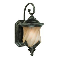 Westinghouse 69511 Byberry One-Light Exterior Wall Lantern, Marbleized Bronze Finish with Champagne Mist Globe by Westinghouse. $67.48. Save 34%!