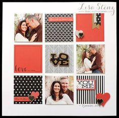 Scrapbook Layout | 12X12 Page | Scrapbooking Ideas | Love | Creative Scrapbooker Magazine  #scrapbooking #12X12