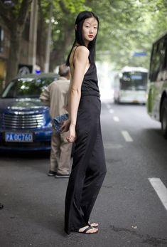 Black Jumpsuit, Shanghai | Street Fashion | Street Peeper | Global Street Fashion and Street Style