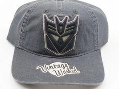 147fcad1977a6 Transformers Decepticons Logo Gray Bioworld Vintage Curved Bill Snapback Hat   Bioworld  BaseballCap Transformers Decepticons