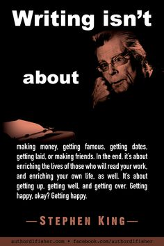 Stephen King from Writing: A Memoir of the Craft . Creative Writing Tips, Book Writing Tips, Writing Words, Writing Skills, Writing Prompts, Memoir Writing, Stephen King Quotes, Stephen Kings, Stephen King Books