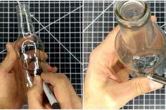Простой способ проделать в стеклянной бутылке отверстие любой формы – БУДЬ В ТЕМЕ