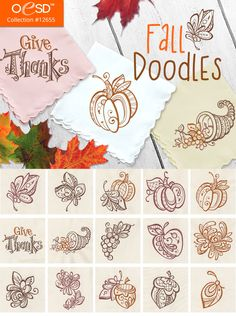 doodles embroideryonline embroidery autumn take modern