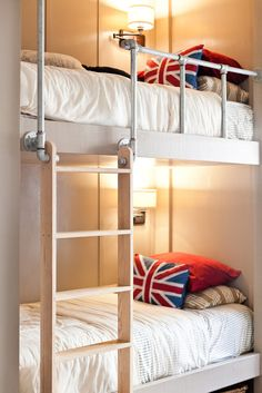 Got bunk beds??  Want the kidlets to think they are really kool???  Add some industrial piping to the rail and ladder areas.  Way kool indeed.......D.