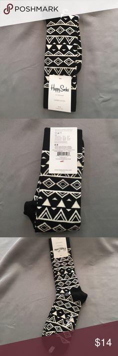 NWT Happy Socks Black and White Socks NWT Happy Socks Black and White Socks. Checkout my other socks and bundle to save!! Happy Socks Underwear & Socks Casual Socks