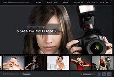 Amanda Williams Photographer HTML5 Template by Dynamic Template