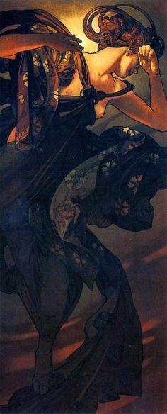 vintascope: Evening Star by Alphonse Mucha, 1902 (www.neat-stuff-blog.blogspot.com)