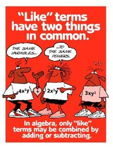I love this poster.and the website with them on it! Math Teacher, Teaching Math, Math Class, Teacher Stuff, Teaching Ideas, Algebra Bulletin Boards, Simplifying Expressions, Maths Algebra, 7th Grade Math