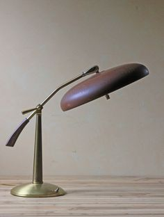 Modern atomic brown table lamp 1950s