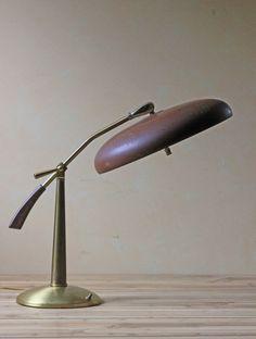 Modern atomic brown table lamp 1950s