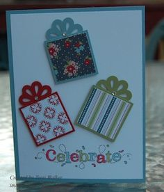 I like the packages on this card. #stampinup