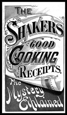 The Shakers Good Cooking Receipts (sic)