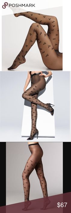 Wolford Ribbon Tights in Black NWT Wolford Ribbon tights (black) Medium Wolford Accessories Hosiery & Socks