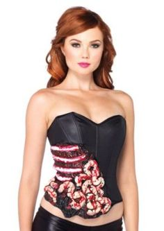 Leg Avenue Costumes Blood and Guts Corset with Support Boning Tag a friend who can pull this off! #Zombie #Halloween #Costume