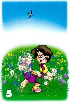 zber kvetov vo vysokej tráve