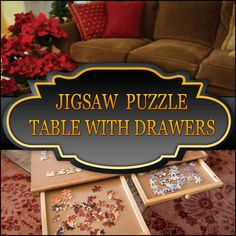 Best Jigsaw Puzzle Table With Drawers  http://jigsawpuzzlesforadults.com/halloween-jigsaw-puzzles-for-adults/