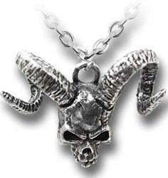 Alchemy Gothic Demon Skull of Azrael Pendant