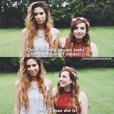 Amy and Lauren Cimorelli This is so sweet. ♡