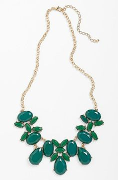 Wearing this stone bib necklace with a LBD.