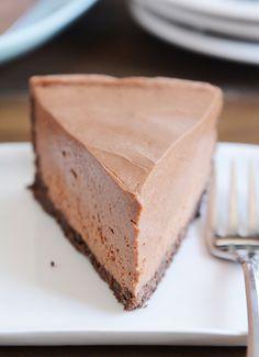 No Bake Creamy Chocolate Cheesecake!!