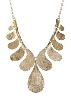 Golden Glamour Necklace by Olivia Welles on @HauteLook