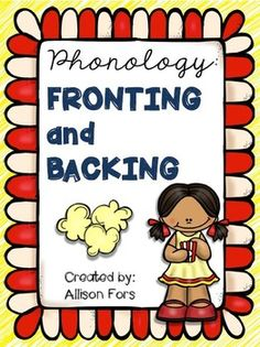 Take a look at this fun, popcorn themed fronting and backing packet! Target sounds, words, and sentences. Articulation Therapy, Articulation Activities, Speech Therapy Activities, Language Activities, Speech Language Therapy, Speech Language Pathology, Speech And Language, Phonological Processes, Phonological Awareness