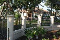 concrete fence designs - Google Search