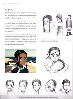 Katara (Avatar) Concept Art-- The concept art's neat, but I'm glad she turned out how she did in the end.
